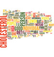 food that lower cholesterol text background word vector image vector image