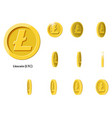 gold rotate litecoin frames vector image vector image