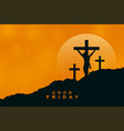 good friday background with jesus christ vector image vector image
