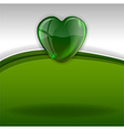 hearts background green white vector image vector image
