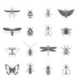 Insects Black Icons Set vector image vector image