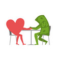 love and money in cafe selling love dollar and vector image
