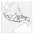map indonesia black thick outline highlighted vector image vector image
