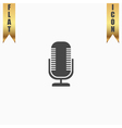 microphone flat icon vector image vector image
