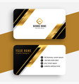 modern black and golden business card design vector image vector image