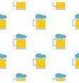 mug of beer pattern seamless vector image vector image