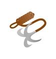 Ninja hook isometric 3d icon vector image