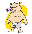 pig man vector image vector image