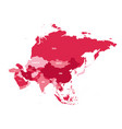 political map of asia continent in shades of vector image vector image