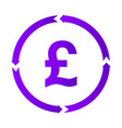 pound turnover icon vector image vector image