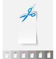 realistic design element scissors vector image