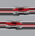 red grey tone polygon futuristic design modern vector image vector image