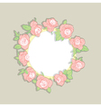 roses wreath vector image vector image