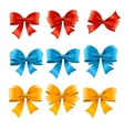 Satin Colorful Bow Set vector image vector image
