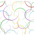 seamless background with colored rings vector image vector image