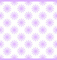 seamless pattern from pink snowflakes on a white vector image