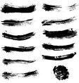 set brush strokes brush stroke collection vector image vector image