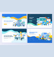 set of web page design templates for education vector image