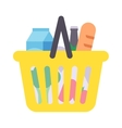 Shop product basket vector image