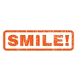 Smile Rubber Stamp vector image