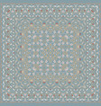 square pattern for the silk scarf vector image vector image