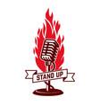 stand up show emblem template design element vector image