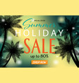 summer sale banner with tropical backgrounds vector image vector image