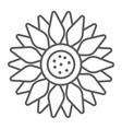 sun flower thin line icon farming and agriculture vector image vector image