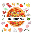 top view delicious italian pizza vector image