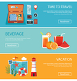 travel elements and concept flat banners set vector image