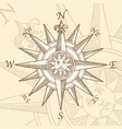 vintage compass rose engraving vector image
