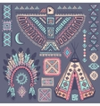 Vintage set of native American symbols vector image vector image