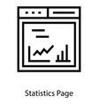 web statistics page vector image vector image