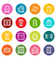 window design icons set colorful circles vector image vector image