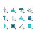 stylized electricity and power icons vector image