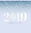 2019 happy new year postcard vector image vector image