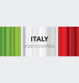abstract italian flag abstract banner second of vector image vector image