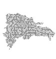 abstract schematic map of dominican republic from vector image vector image