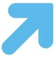 Arrow Up Right flat blue color icon vector image