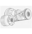 belt gear vector image vector image