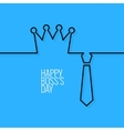 boss day continuous line background vector image vector image
