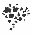 brazil states maps vector image vector image