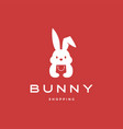 bunny shopping bag logo icon vector image vector image