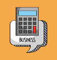 business calculator in bubble chat vector image