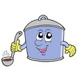 cartoon cooker pot vector image