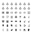 cartoon packaging symbols icons set vector image vector image