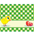 Checkered background with chicken and easter eggs vector | Price: 1 Credit (USD $1)