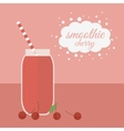 Cherry smoothie in jar on a table vector image