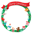 Christmas Wreath Ornaments and Decoration vector image vector image