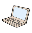 comic cartoon laptop computer vector image vector image